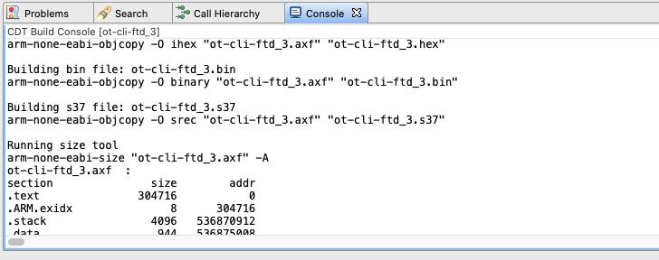 Projetar janela de saída de compilação