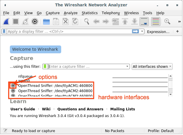 OT Sniffer Wireshark Extcap Yakalama