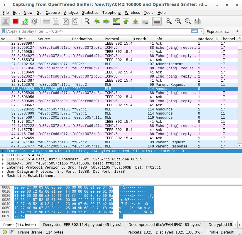 OT Sniffer Wireshark Extcap Paketleri
