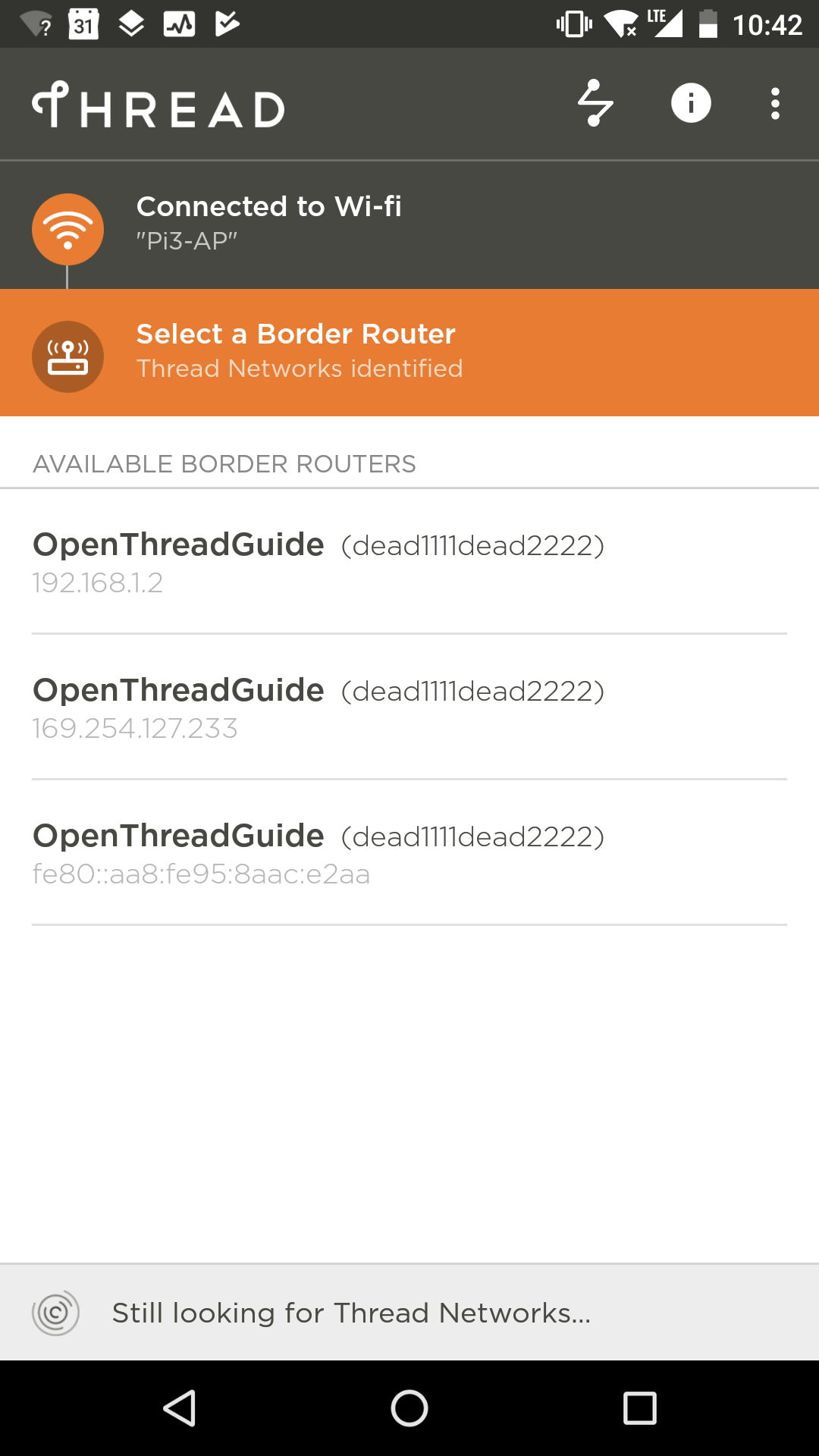 Thread App Border Router