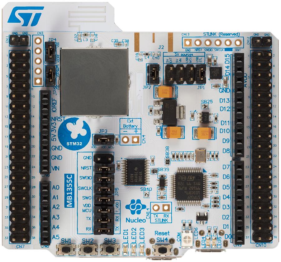 ST ไมโครอิเล็กทรอนิกส์ STM32WB55